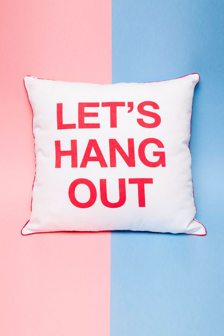 Chip Chop! - LET'S HANG OUT Cushion Cover, $34.95 (http://www.chipchop.com.au/lets-hang-out-cushion-cover/)
