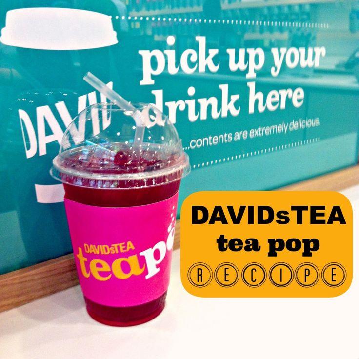 Making Strawberry Rhubarb Tea Pop with DAVIDsTEA. A yummy, bubbly iced tea recipe.