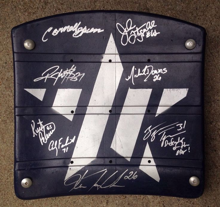 #Autographed Texas Stadium Seat #Dallas Cowboys Customized Star Signed By 8 Proof from $79.99