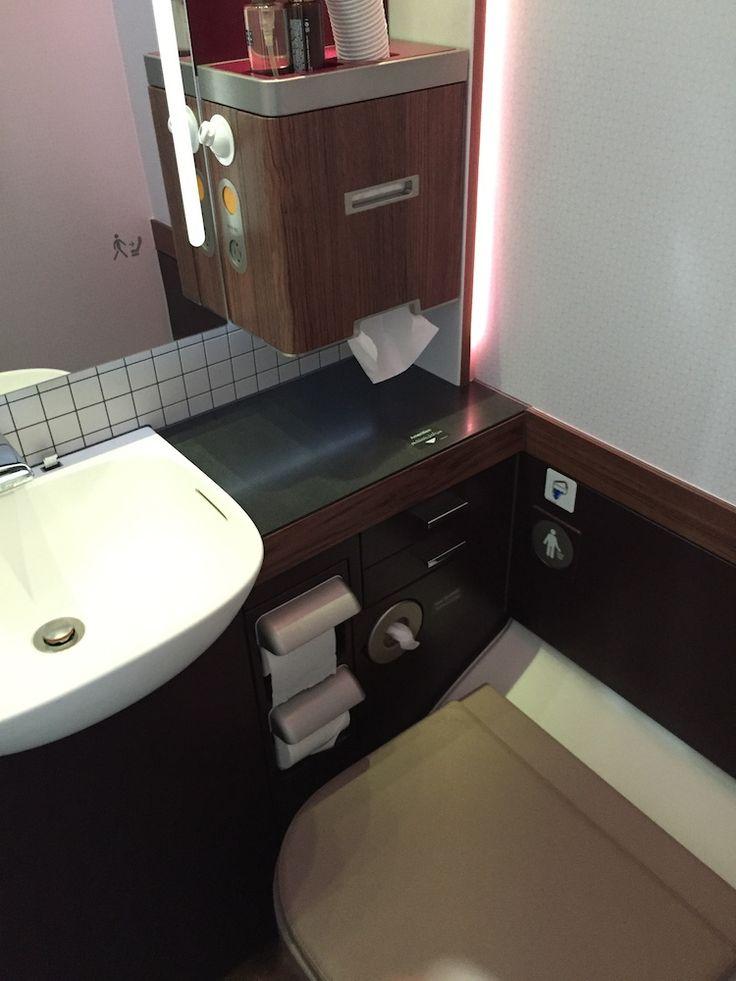 Qatar Airways A380 Business Class Toilet http://www ...
