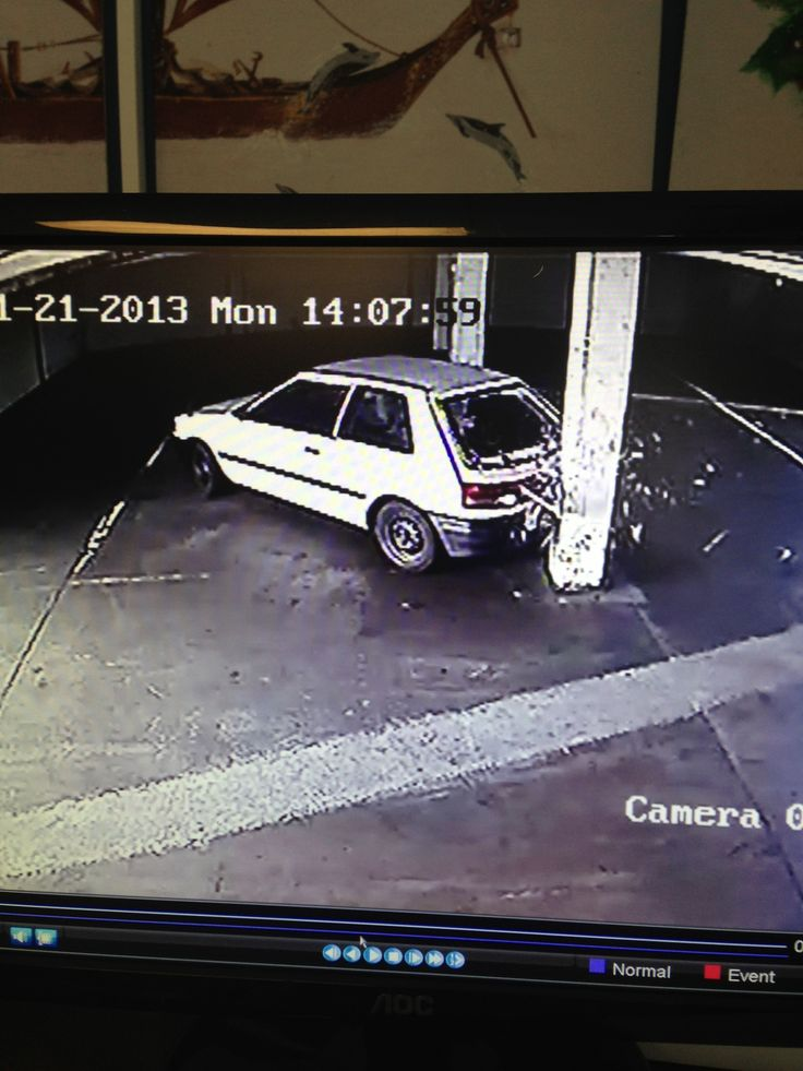 This guy reversed into the pillar in his own car park. Was kind enough to let us have a good laugh watching the CCTV.