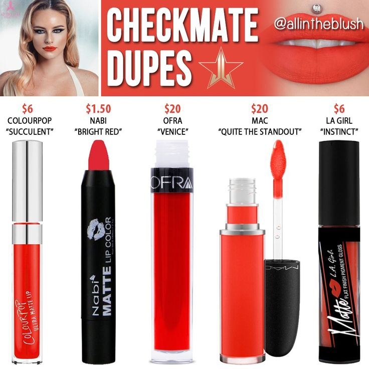 Jeffree Star Checkmate Velour Liquid Lipstick Dupes [Holiday 2016]