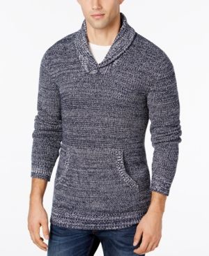 American Rag Men's Shawl-Collar Sweater, Only at Macy's - Blue 2XL