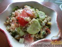 Салат из печени трески с овощами