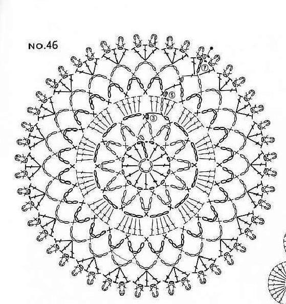 607 best images about crochet mandalas on pinterest. Black Bedroom Furniture Sets. Home Design Ideas