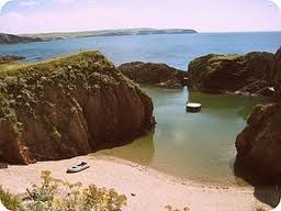 The Mermaid Pool. Burgh Island, Devon