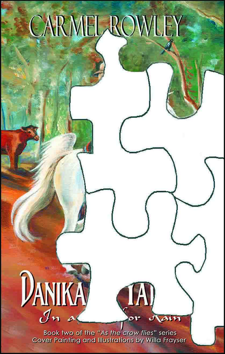 Fitting the pieces No 5 of the front cover for the soon to be released 'Danika and Yatimah in a Race for Rain'