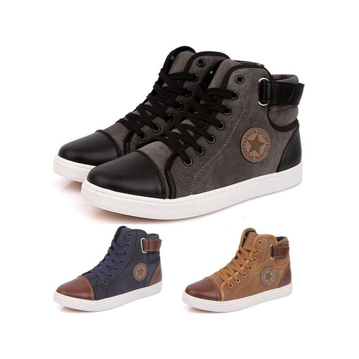 New 2015 Brand Sneakers For Men Casual Canvas Shoes Fashion High Top Men Sneakers High Quality Flat Men Shoes