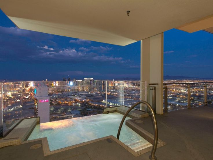 Palms Place Penthouse Hanging Jacuzzi On 57th Floor