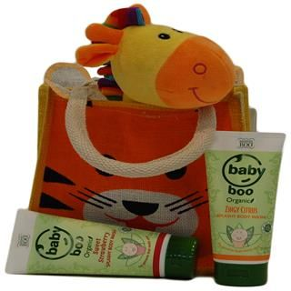 This practical and beautiful gift will really help the parents care for their new arrival, with a host of organic baby care products, presented in a beautiful Tiger Jute Bag.