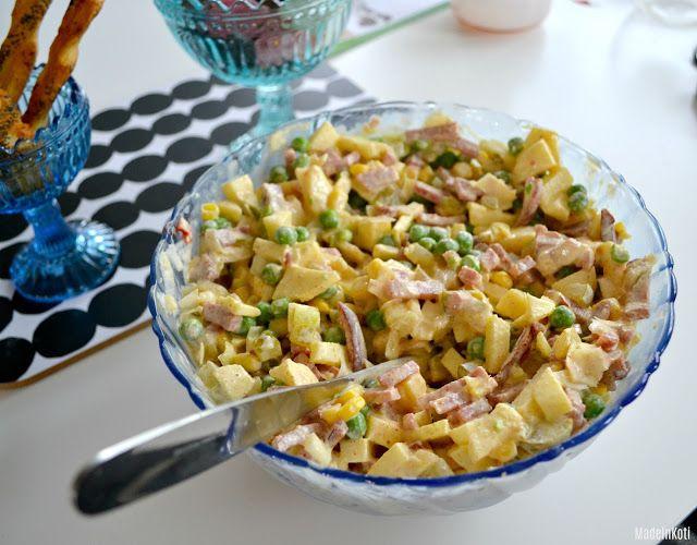 MadeInKoti: Ruokaisaa salaattia (nopea&helppo)