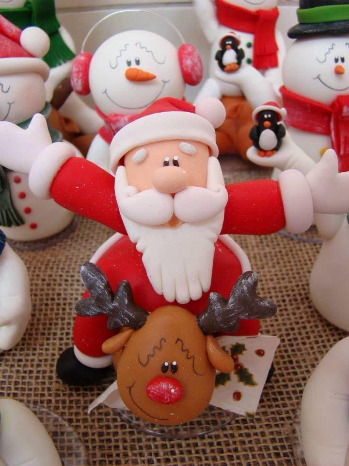 figuras de porcelana fria navideñas - Buscar con Google