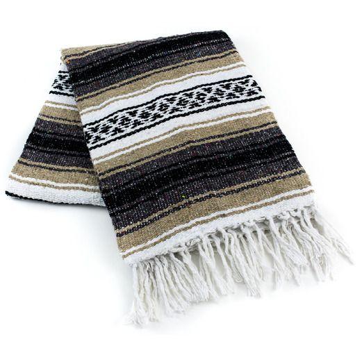 Cinco de Mayo Decorations Beige Mexican Blanket Image