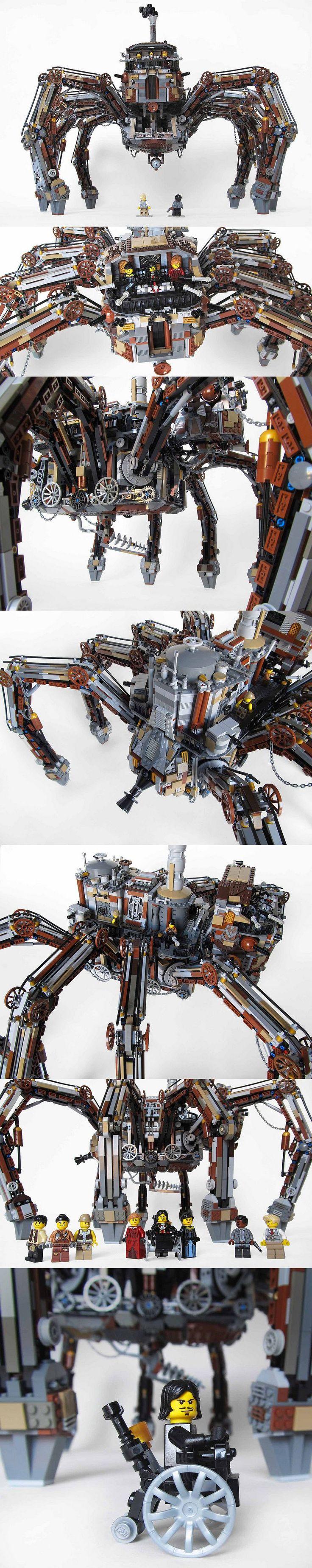 Wild Wild West (Loveless's spider) : amazing #Lego #Steampunk by Imagine Rigney