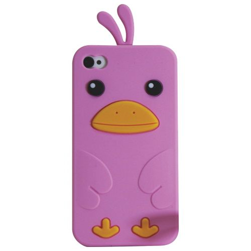 Exian iPhone 4 / 4s Cell Phone Case (4G157-PINK) - Pink                         - Web Only