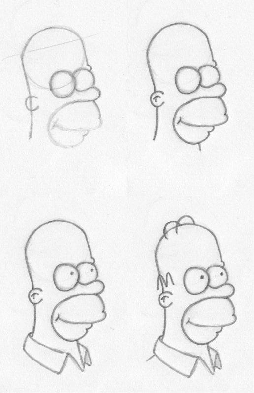 How to draw (insert cartoon character). How to draw Homer Simpson.