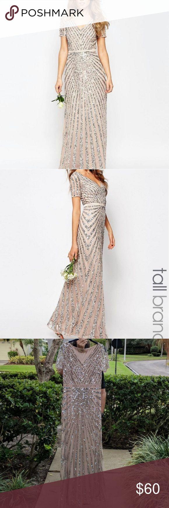 ASOS Maya Sequin bridesmaid dress Blush / pink / Sparkly / sequin Wedding /bridesmaid / gown ASOS Dresses Maxi