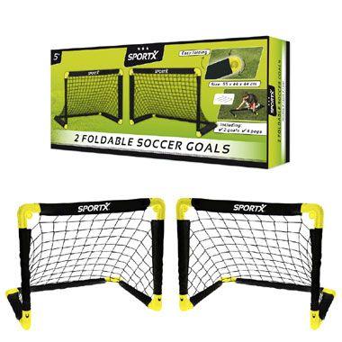 SportX voetbaldoel - 2 stuks - 55 x 44 x 44 cm