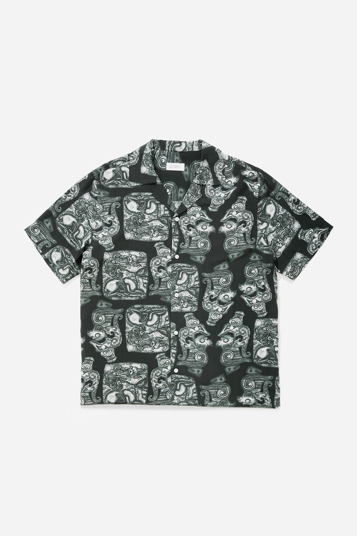 Canty Pendant Short Sleeve Shirt, Black