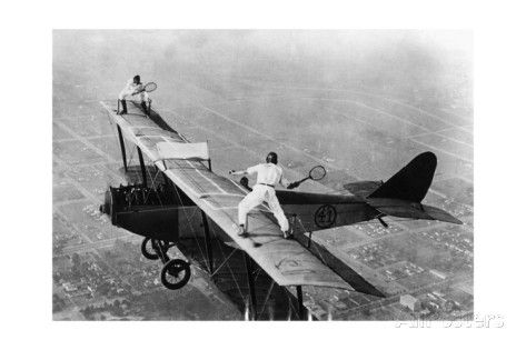 Tennis on a Plane, 1925 Reproduction photographique