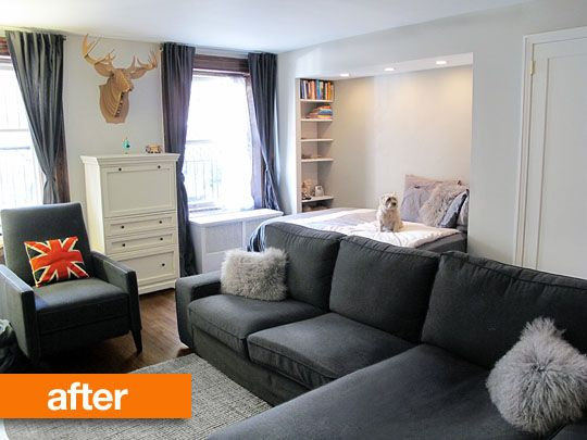 Before After A Studio Facelift In Brooklyn The Sweeten Micro ApartmentApartment IdeasApartment TherapyApartment Living