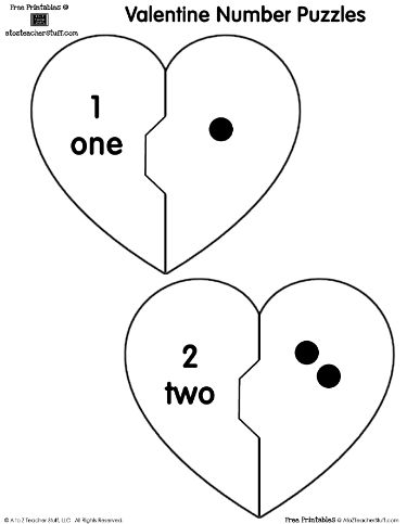 260 best count with me images on pinterest day care kindergarten printable heart number puzzles match the dots ccuart Images