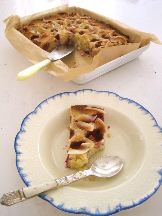 Doce Vika - Mandler, kokosnøtter og bringebær kake. (sukkerfri, glutenfri og melkefri)
