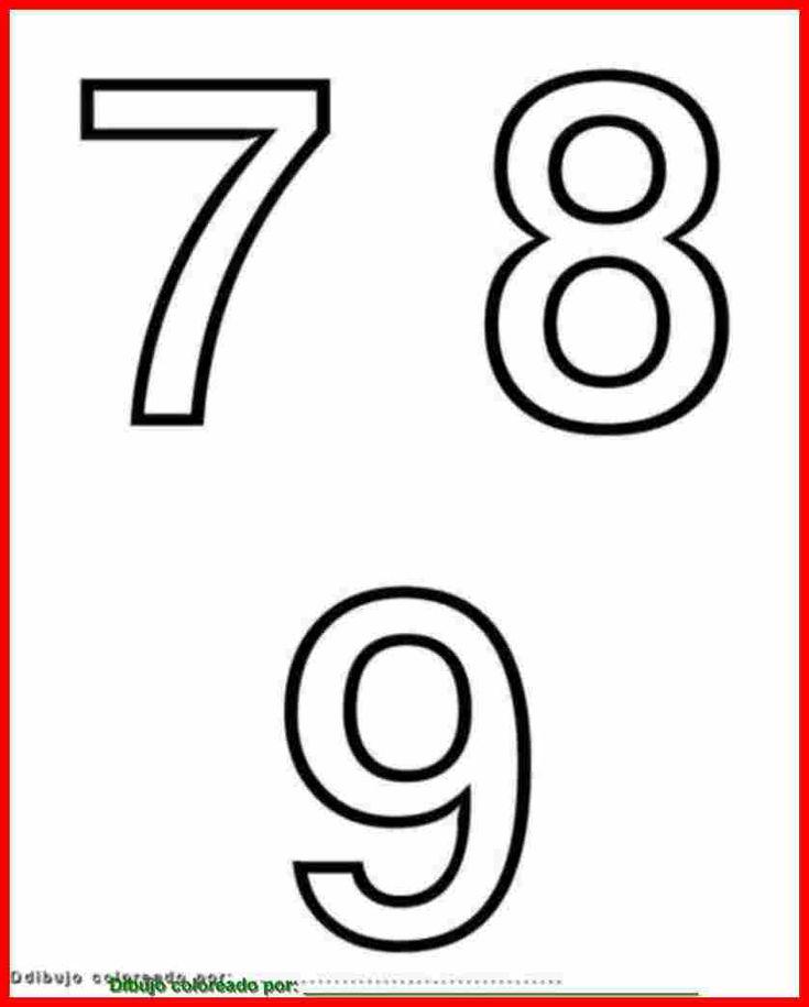 Números 7, 8, 9, Para Imprimir, Colorear, Pintar, Decorar