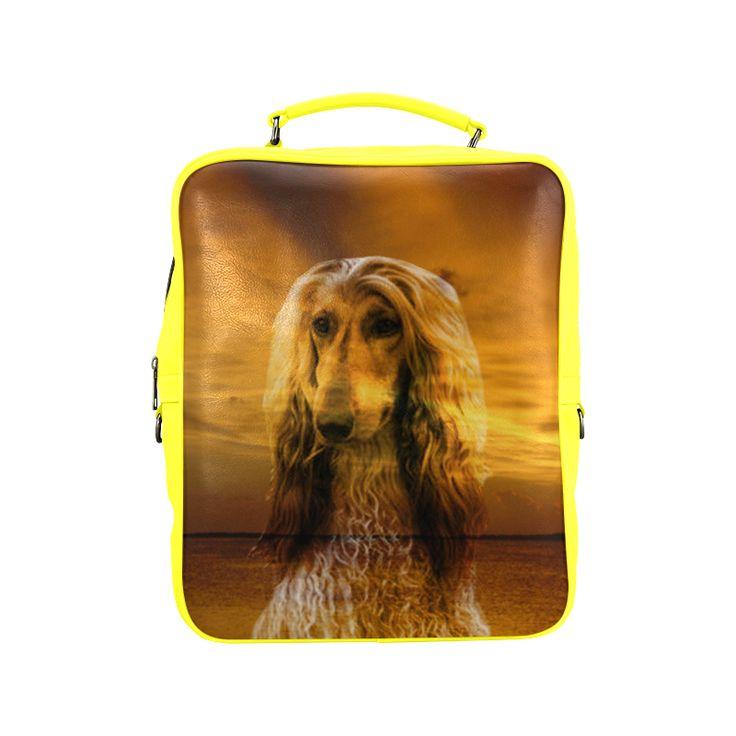 Dog Afghan Hound Square Backpack (Model1618)