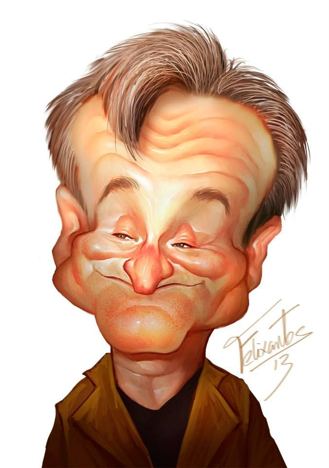 Robin Williams by Felixantos...so sad to know he is gone....gone, but not forgotten.
