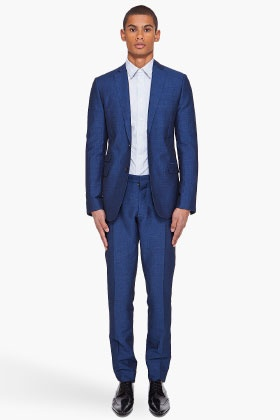 DSQUARED2 //  NAVY WOVEN SUIT - Wear with a tie and pocket square to dress it up.
