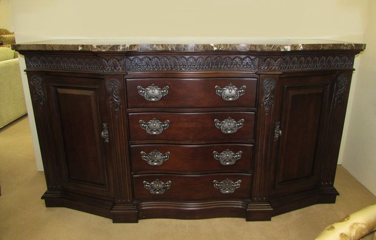 Bernhardt Marble Top Buffet Sideboard Credenza