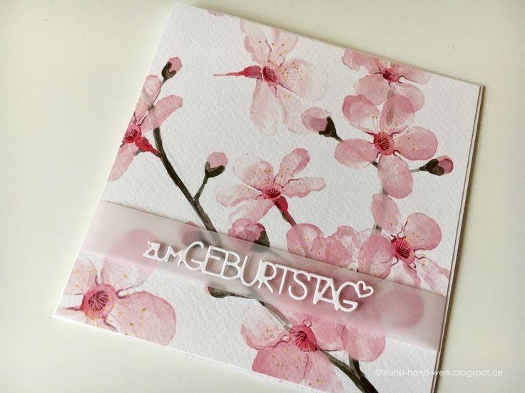 """Sakura bedeutet übersetzt """"japanische Kirschblüte"""" und genau diese habe ich für den Start in den Frühling als Motiv ausgesucht.Ein wundersch..."""