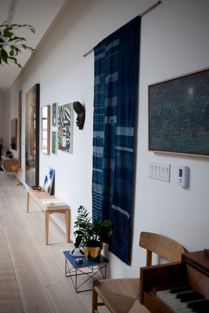 This indigo tapestry