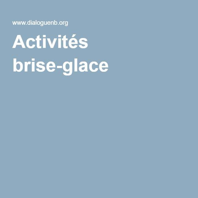 Activités brise-glace