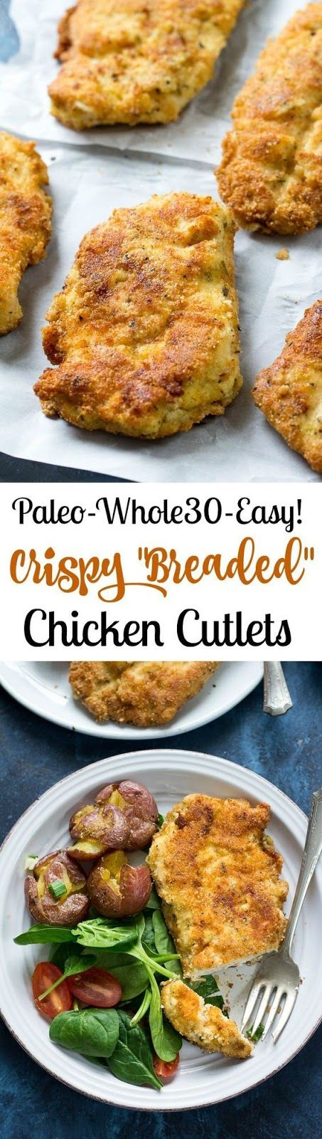 """INGREDIENTS     1.5 lbs boneless, skinless chicken breasts, thin sliced or pounded to ½"""" thickness   1 cup blanched almond flour*   ¼ c..."""