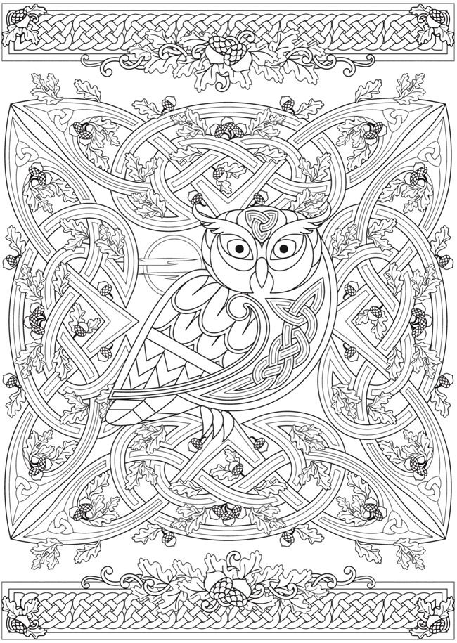 Creative Haven Deluxe Edition Celtic Nature Coloring Book