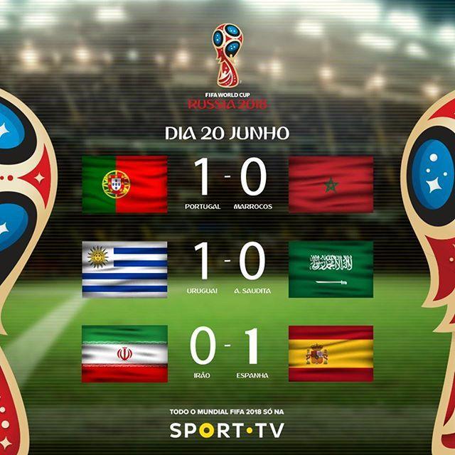 Ontem No Fifaworldcup Todos Os Jogos Terminaram Com O Mesmo Resultado Siga Tudo Sobre O Mundial2018 No Perfil Blogmundodefutebol Portugal X Marrocos 1