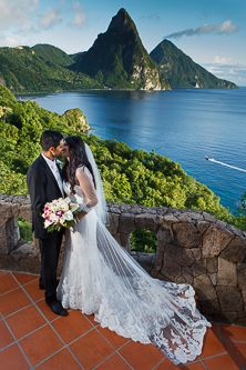 Luxury Piton view villa wedding