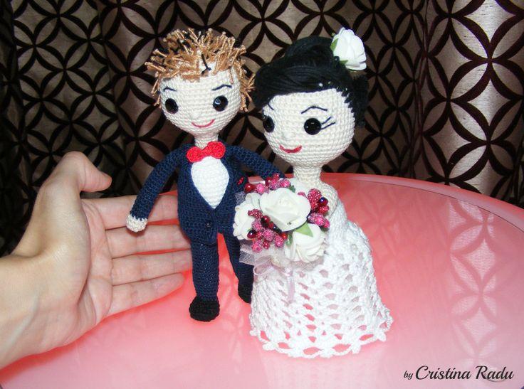 Wedding couple, amigurumi dolls Bride/Groom, special gift ...