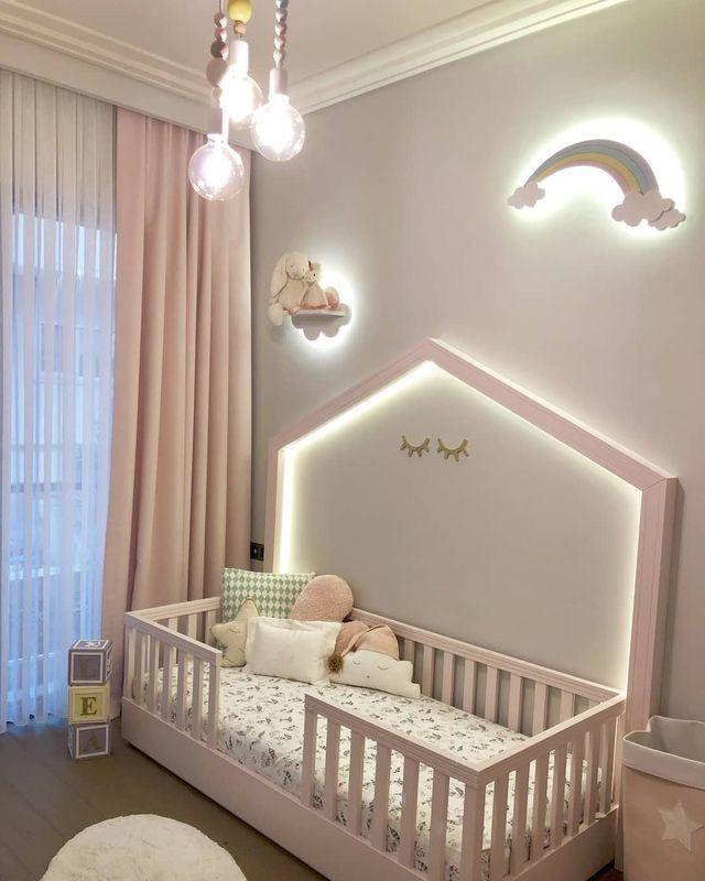 Chambre de petite fille avec jolie décoration #arcenciel ...