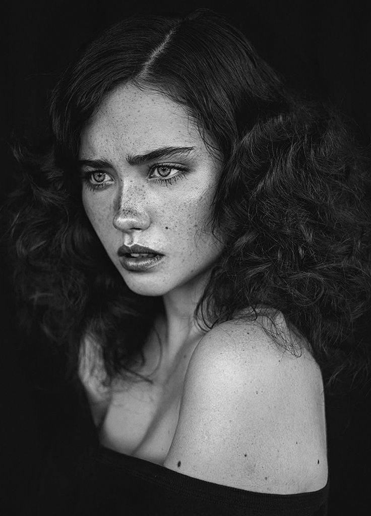Agata Serge beautiful female with freckles portrait photography