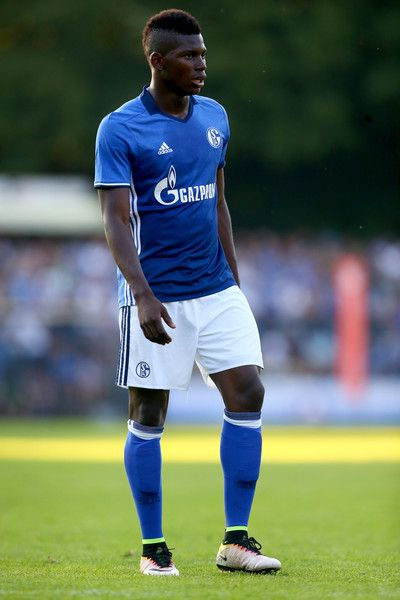 Breel Embolo of Schalke is seen during the friendly match between DSC Wanne-Eickel and FC Schalke 04 at Mondpalast Arena on July 19, 2016 in Herne, Germany.
