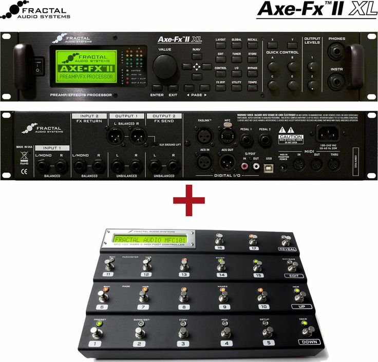 Fractal Audio Axe-Fx II XL + MFC-101 controller (Mark III) bundle