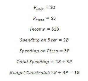 writing a budget constraint shows