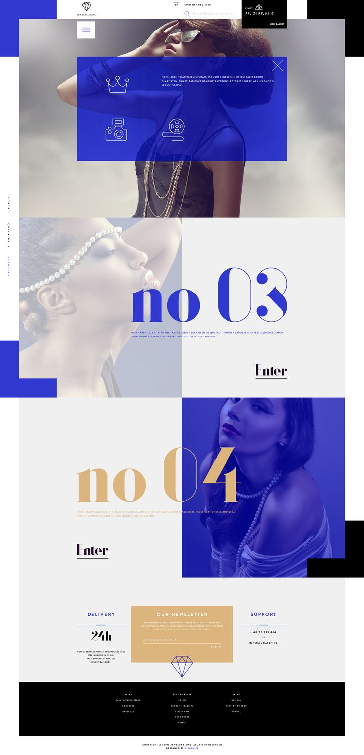 Stunning Jewelry Store Web Design by Michal Wierzbicki |