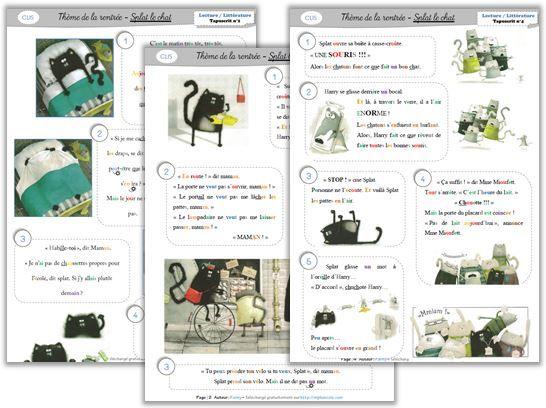 Lecture / Littérature CP - Splat le chat - Cycle 2 ~ Orphéecole