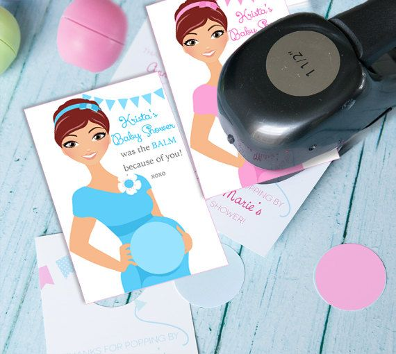 Baby Shower Favors With Eos Lip Balm By Dianamariastudio
