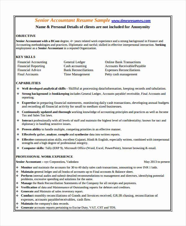 Accounting Resume Objective Statements Lovely 23 Accountant Resume Templates In Pdf In 2020 Resume Objective Statement Accountant Resume Resume Objective
