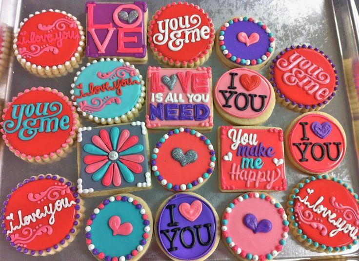 Galletas de san valentín!!! - Decorated Cookies